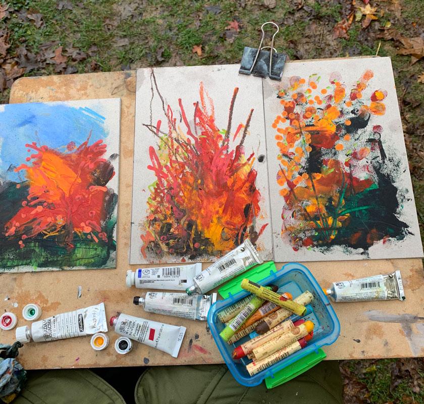 artist process sketches