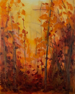 Painting of Autumn Trees
